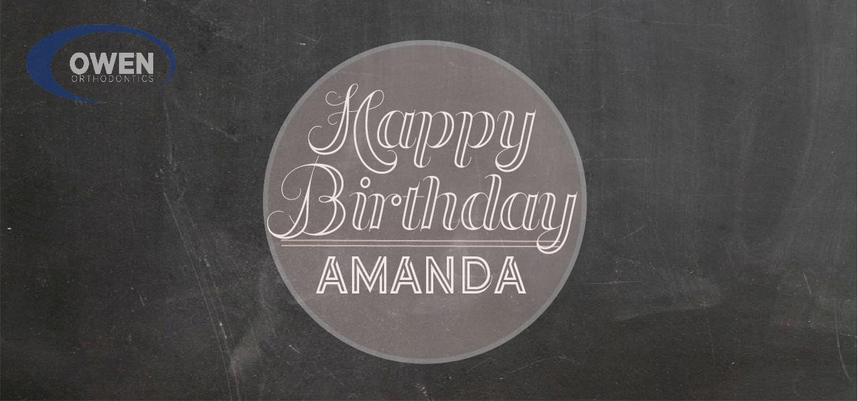 happy birthday  amanda